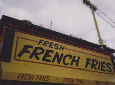 the french fry stand!
