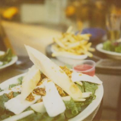 with martha & cynthia. i had the brie salad.