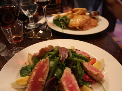 nicoise salad at jacques on prince street