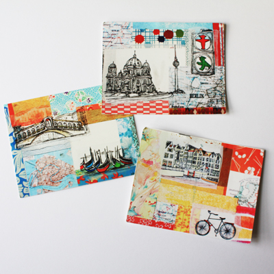 europe postcards by stephanie levy : berlin, venice, amsterdam