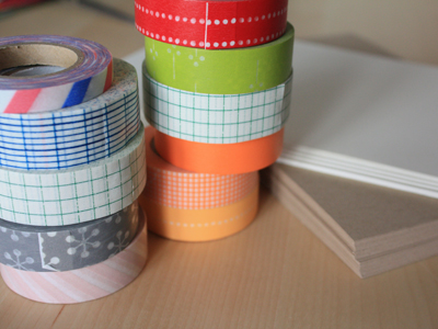 washi tape and paper