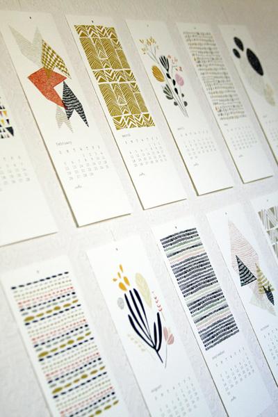 etsy : leah duncan : 2012 12 month calendar