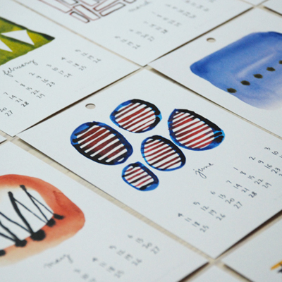 big cartel : flora douville : 2012 calendar - happy shapes