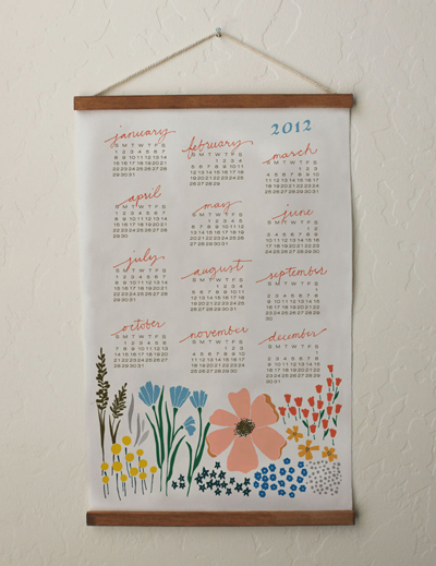 etsy : lisa rupp design : 2012 floral calendar