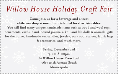 willow house holiday craft fair