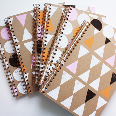 printed notebooks
