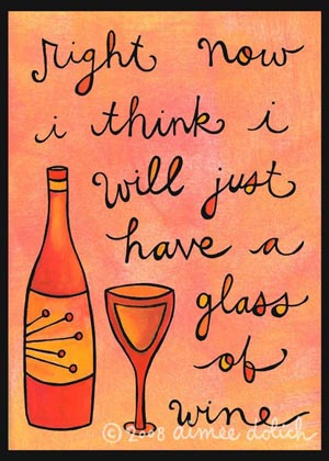 etsy : artsyville : glass of wine