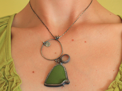 avocado green single pendant by jaime jo fisher