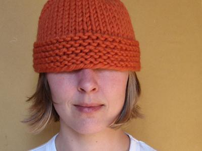 chunky knit beanie