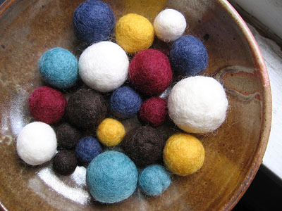 felted balls