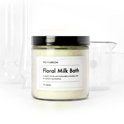 etsy : fig and yarrow : floral milk bath