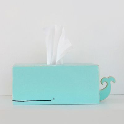 etsy : gnome sweeeet gnome : whale tissue holder light blue