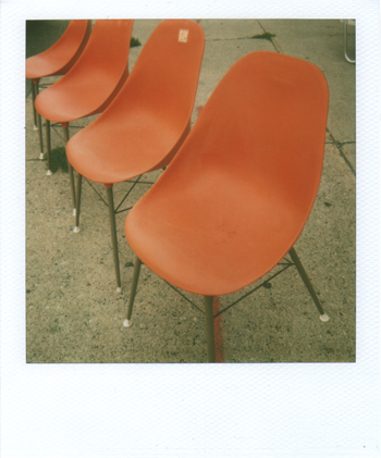 orange! chairs!
