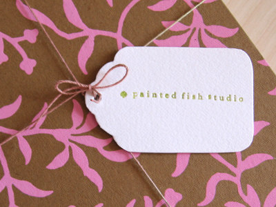 painted fish studio tag