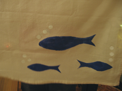 jean's fish towel