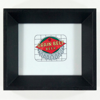 esty : redshoes26 design : grain belt(r) sign framed illustration