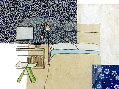 etsy : stephanie levy : matisses bedroom i