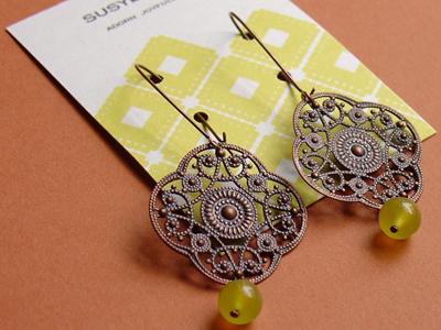 etsy : susyluxe* : valla earring