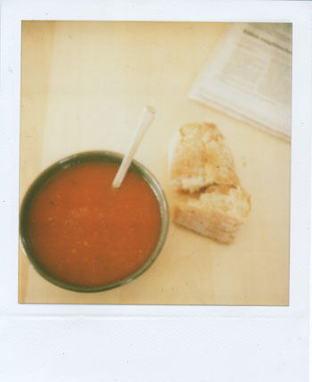 a good day for soup and a baguette