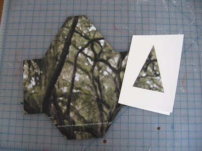 cut envelope, trees