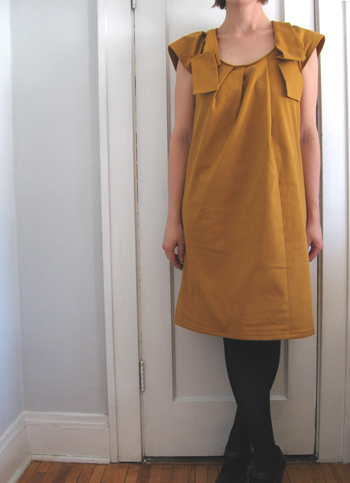 fall shirt dress - sunset yellow